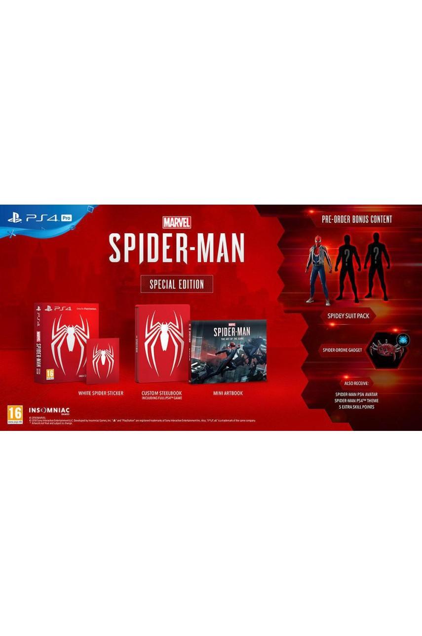Marvel Человек паук Limited Edition (Без Кодов Погашения) [PS4]