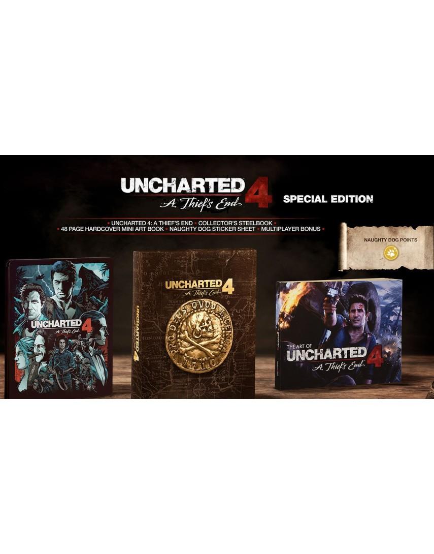 Uncharted 4 Special Edition (Без кодов погашения, Без картинок) [PS4]