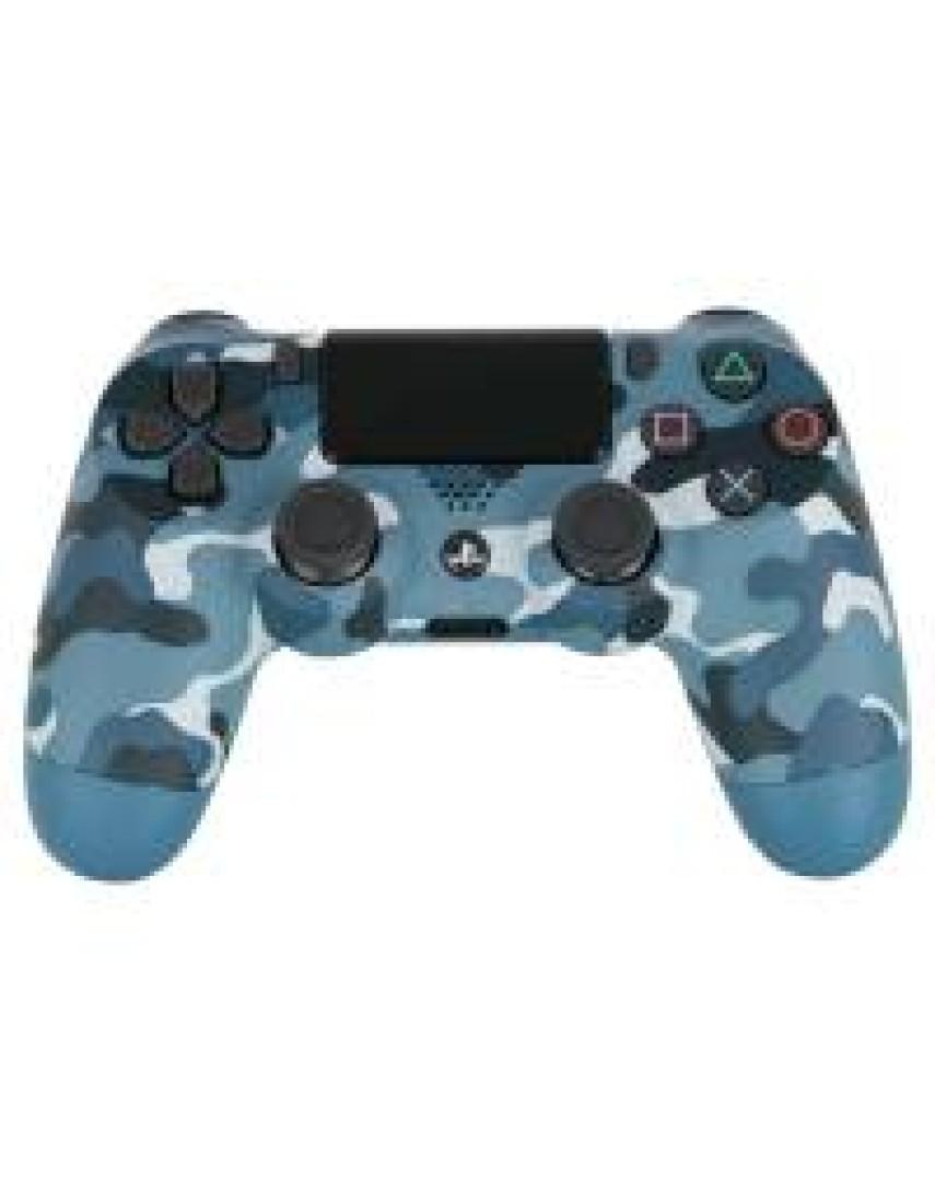 Геймпад для PS4 Dualshock 4 Blue Camouflage (Дубль)