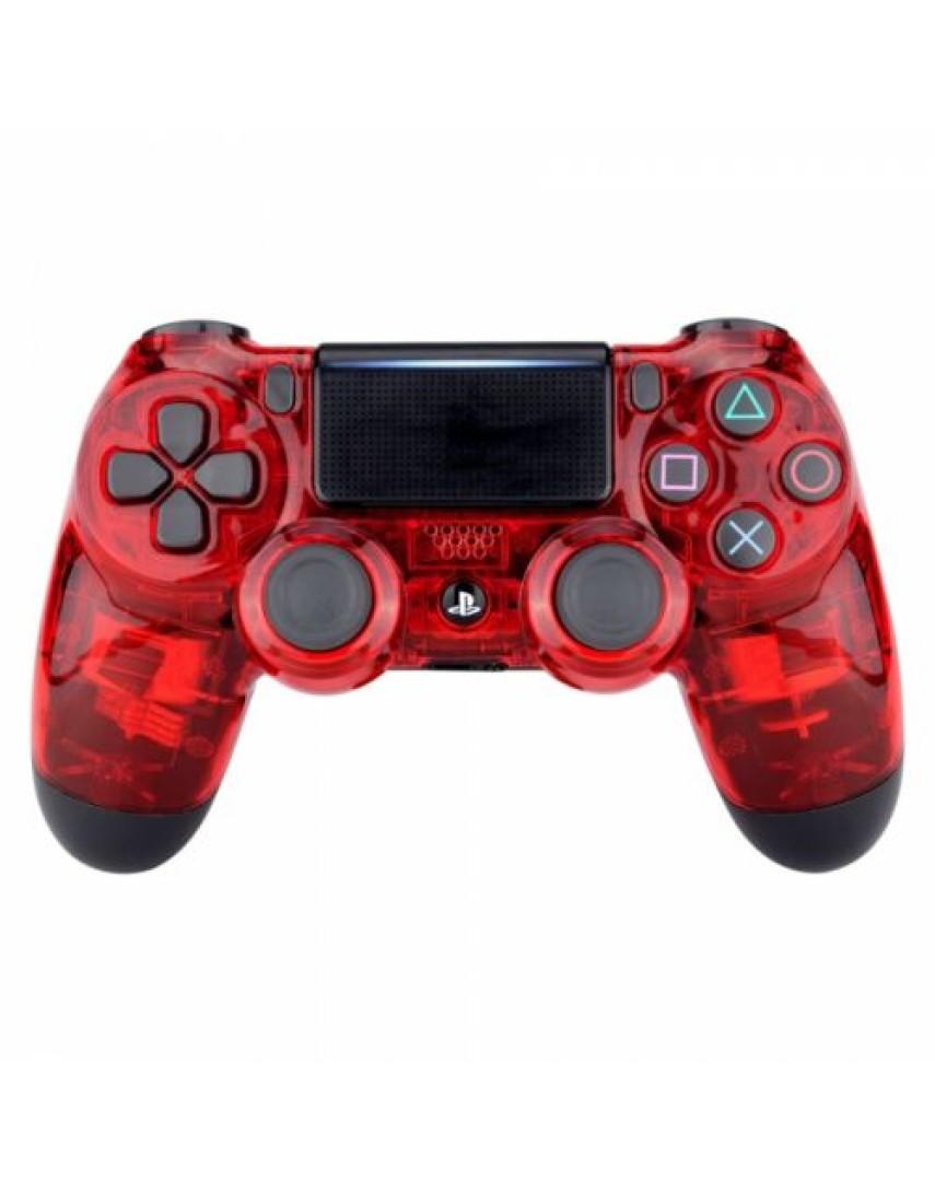 Геймпад для PS4 Dualshock 4 Crystal Red (Дубль)