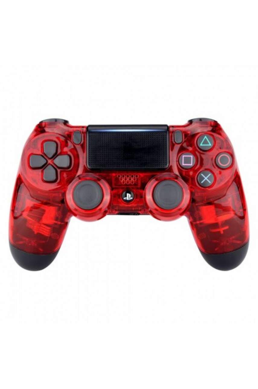 Геймпад для PS4 Dualshock 4 Crystal Red (Дубль)